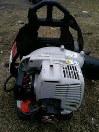 gray and black leaf blower