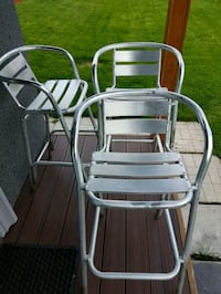NEW 3 ALUMINUM BAR CHAIRS AND OFFICE CHAIR $15 Mississauga, L5C 1G9
