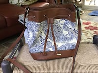 brown and white leather tote bag Wentzville, 63367