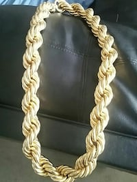 Old school hip hop fat gold chain