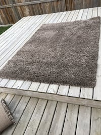2 Brown band silver area rugs almost brand new 150 obo Calgary, T3P