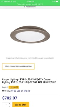 Cooper lighting top tier Led light Beltsville, 20002