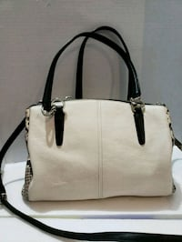 women's white and black leather 2-way Milton, L9T 7V3