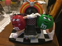 Red and green m and m's ceramic candy dispenser Toronto, M6H 1B5