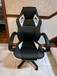 Gaming Chair, black and white