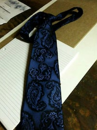 blue and black paisley necktie Riverside, 92504