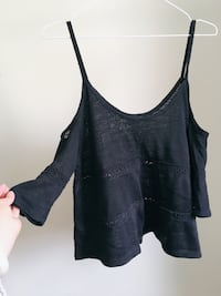 100%New- Top With Cold Shoulder/Lace Panel