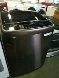 Lg top load washer black stainless new  287 mi