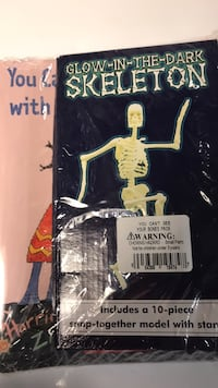 New Glow-in-the-Dark Skeleton & Book about Bones-in shrink wrap Columbia, 21045