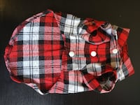 Plaid Doggy Shirts (Assorted Sizes Available)