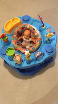 baby's blue and yellow exersaucer Whitchurch-Stouffville, L4A 0M4