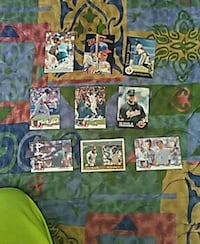 assorted MLB trading cards