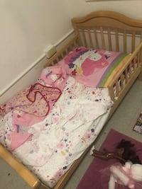 Toddler bed with mattress and unicorn theme room decor Newport News, 23607