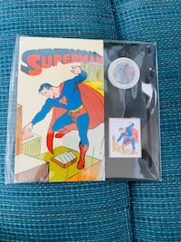2013 75th Anniversary of Superman: Then and Now - Coin and Stamp Set