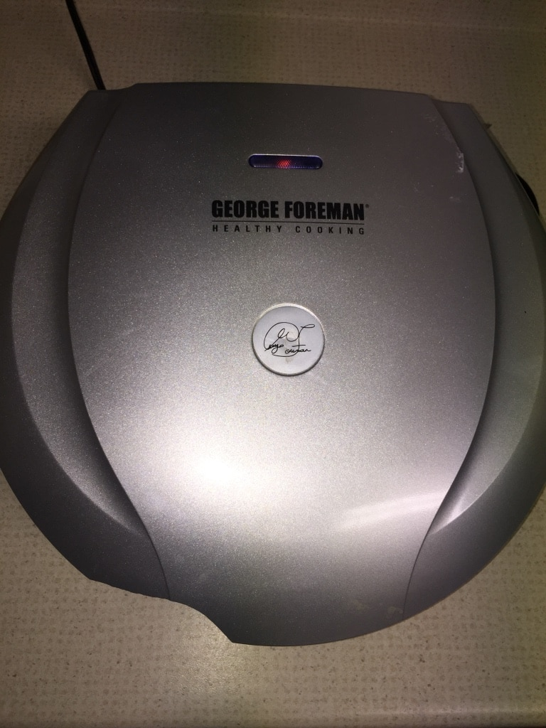 gray George Foreman Lean Mean Fat grilling machine for sale  Manassas
