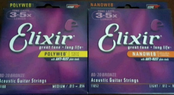 New two pack guitar strings