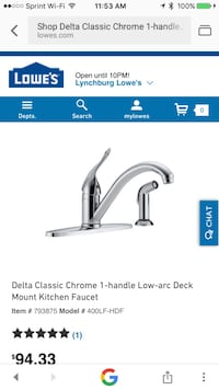 Stainless steel faucet. Forest, 24551