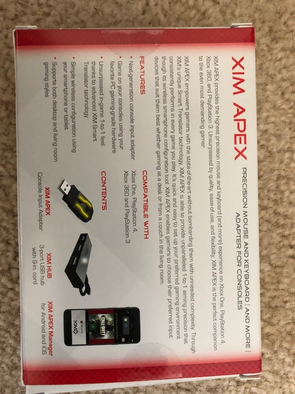 XIM Apex Keyboard and Mouse Adapter Xbox/PS4 Package