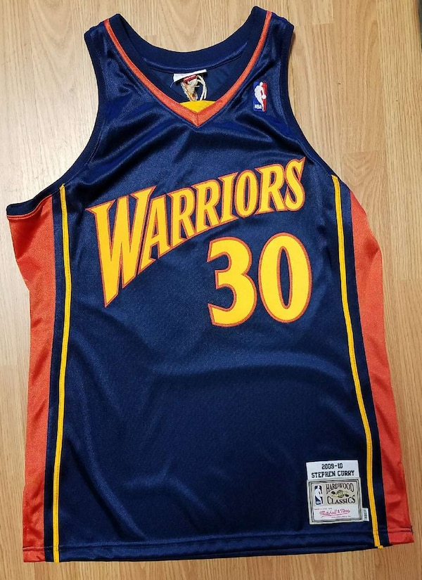 quality design 9c414 88bb7 Mitchell & Ness Stephen Curry jersey