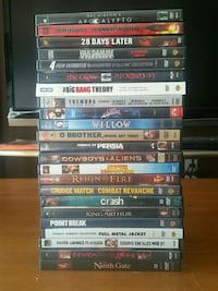 assorted DVD movie case lot Burnaby, V5B 1W3