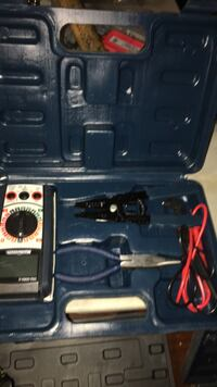 black and gray cordless power drill with case Sherwood Park, T8H
