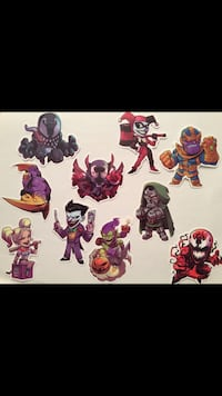 New—10 villain/ anti superhero reusable stickers DC and Marvel  Montréal, H9H 5M4