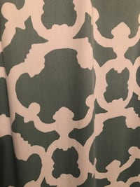 Teal Pattern Shower Curtain