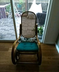 Rocking chair with comfort cushions