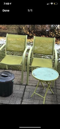 Ikea patio chair and table Mississauga