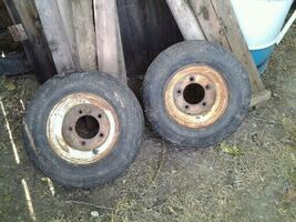 Two trailer tires. 20.5x8.0x10