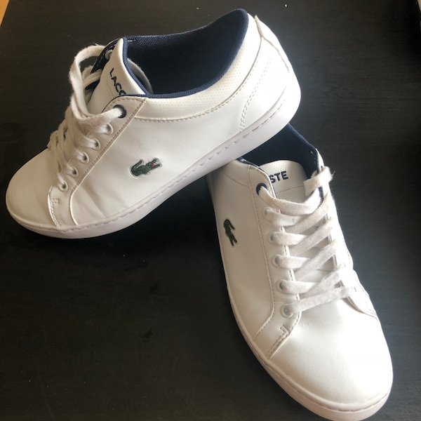 f633d7053965 Used LACOSTE junior white trainers uk4 for sale in Coventry - letgo