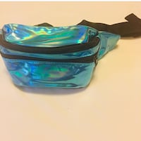 Turquoise holographic Fanny pack