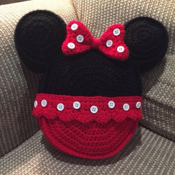 Used Minnie Mouse Crochet Pillow For Sale In Santa Rosa City Letgo