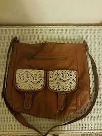 brown leather 2-way handbag Ben Avon, 15202