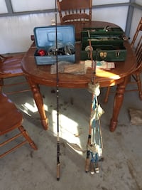 Vintage fly fishing rods reels and tackle