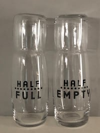 Awesome Christmas gift for couple. Half full & half empty set.