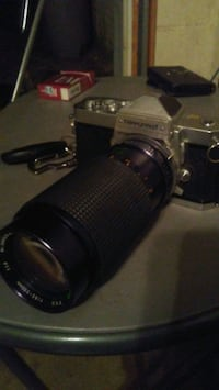 Nikon nikkormat ft film camera and lens