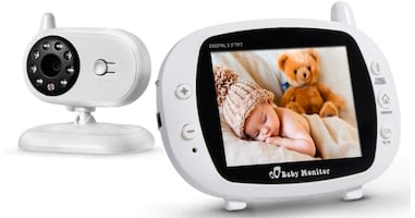 "Baby Monitor with Camera and Audio, Easy to Use, 2-Way Talk, 3.5"" Larg"