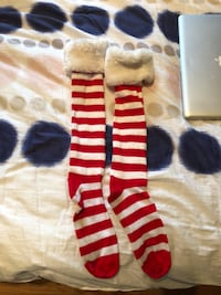 Women christmas socks over the knee worn once Santa  Laval, H7S 1Y3