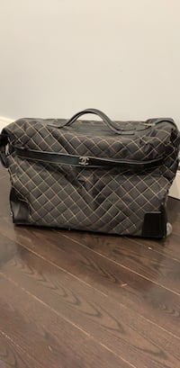 Black and gray plaid leather handbag Toronto, M8W 4P4