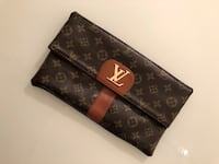 LV brown clutch