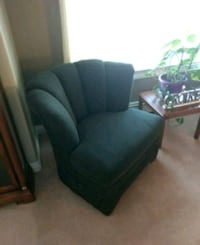 green fabric padded sofa chair Coquitlam, V3C 5B5