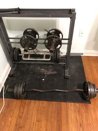 Free weights and stand. Jackson, 39211
