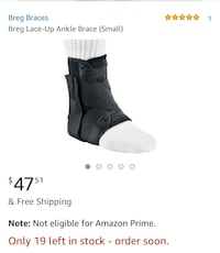 BREG Lace Up Ankle Brace $25 Tysons