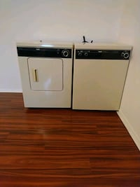 white and black washer and dryer set Longueuil, J4L 1S4