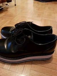 pair of black leather dress shoes Toronto, M3H 3N8