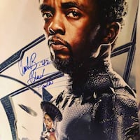 Excellent Christmas Gift - Cast Autographed Black Panther Movie Poster McLean, 22102
