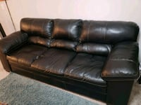 black leather 3-seat sofa Fort Mill, 29708