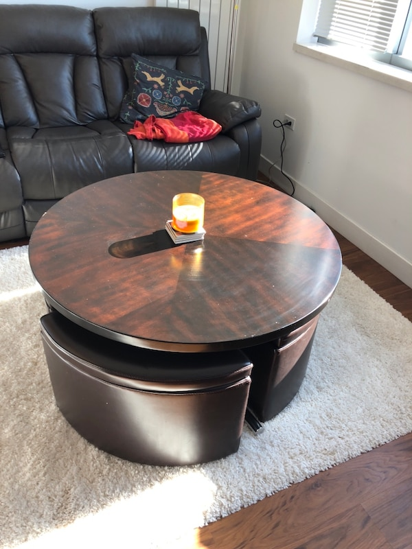 Brilliant Ashley Marion Coffee Table With Nested Stools With Storage And Lift Off Table Top Creativecarmelina Interior Chair Design Creativecarmelinacom