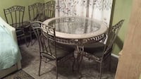 Round Glass Table w/ 6 Chairs $600 obo Henderson